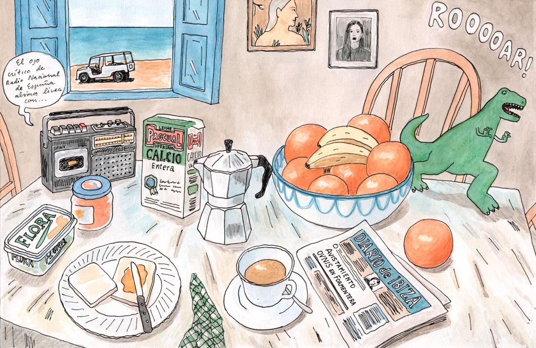 Juan Moreno illustration Formentera