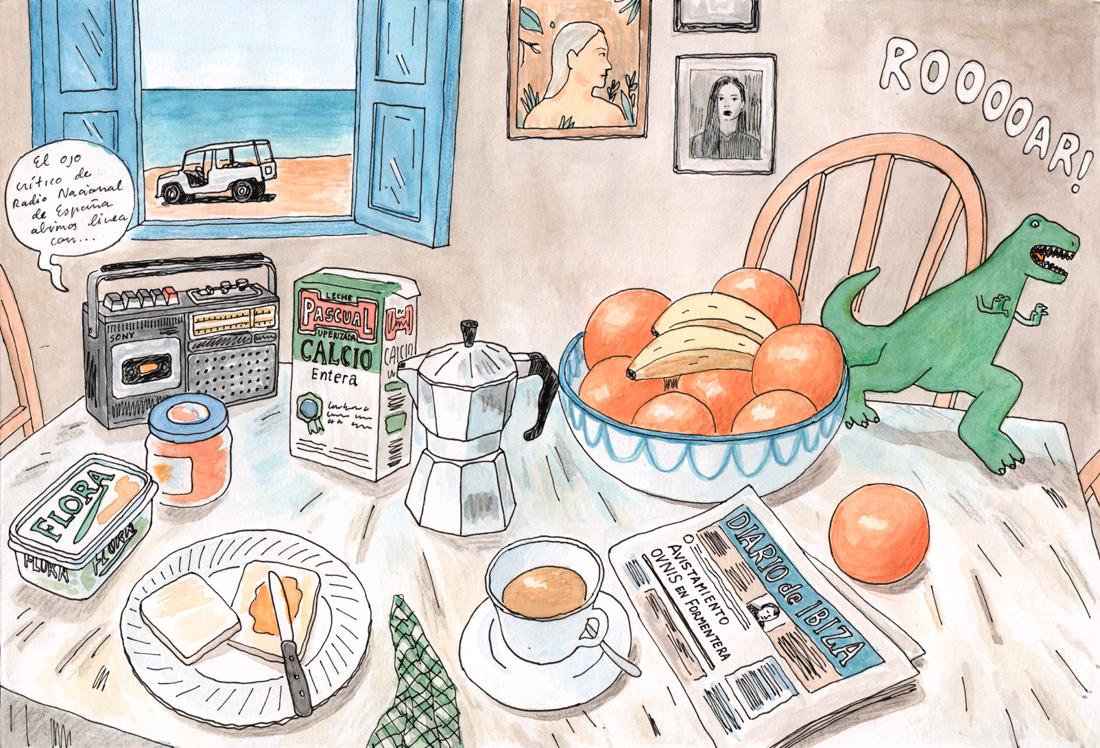 juan moreno desayuno con dinosaurio
